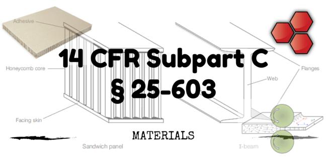 14 CFR Part 25-603 – Materials