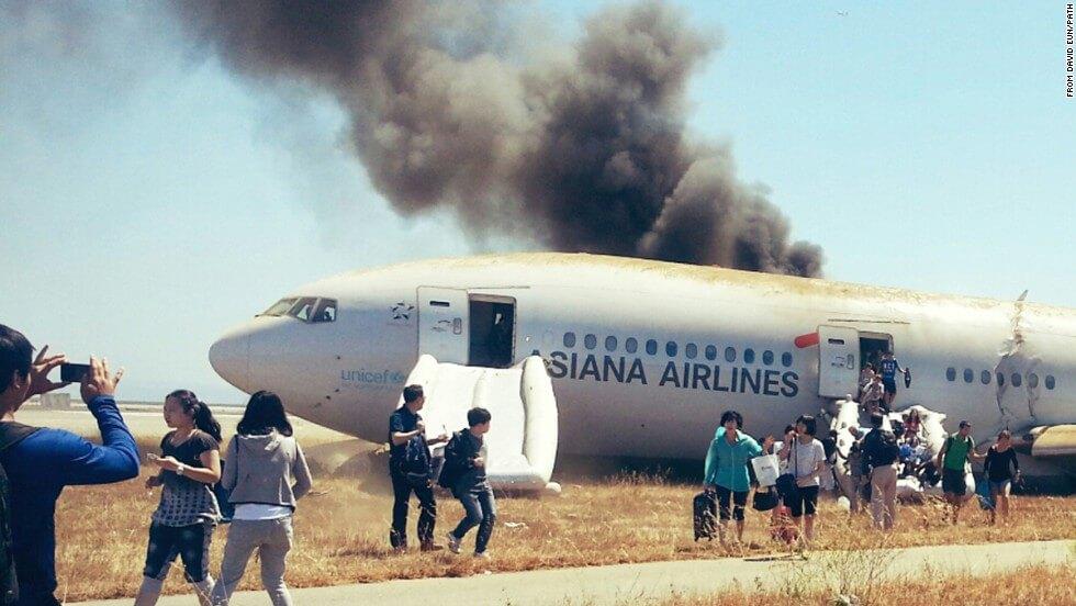 Passenger Safe Exit Following Plane Crash