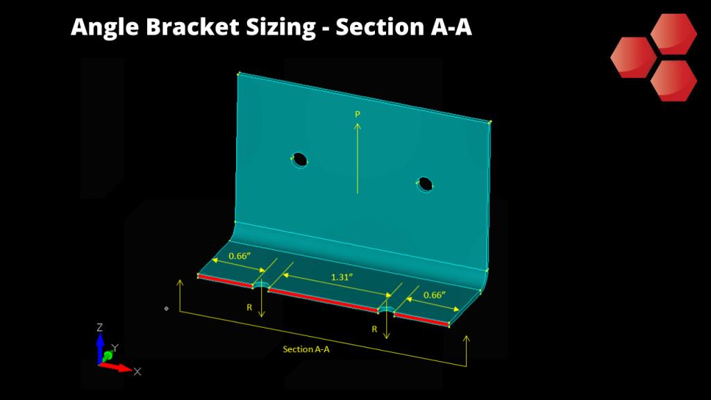 Angle Bracket Sizing - Section A-A